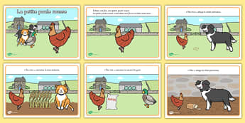 La petite poule rousse Story French - french, the little red riding hood, story