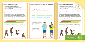 Athletics: Long Jump Techniques Card - Olympics, jumping, running, sprint, Distance