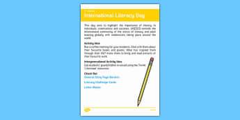 Elderly Care Calendar Planning September 2016 International Literacy D - Elderly Care, Calendar Planning, Care Homes, Activity Co-ordinators, Support, September 2016