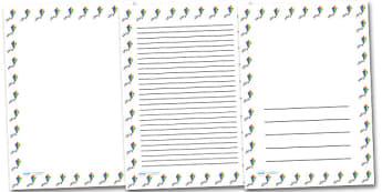 Colourful Kite Portrait Page Borders- Portrait Page Borders - Page border, border, writing template, writing aid, writing frame, a4 border, template, templates, landscape