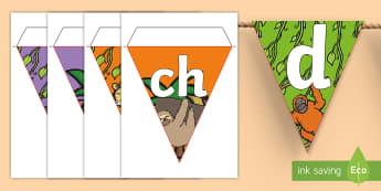 Jungle Themed Welsh Alphabet Display Bunting - Jungle Themed Alphabet Bunting - jungle themed, alphabet bunting, jungle alphabet bunting, A-Z bunti - Jungle Themed Alphabet Bunting - jungle themed, alphabet bunting, jungle alphabet bunting, A-Z bunti