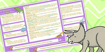 Dinosaurs KS1 Lesson Plan Ideas - Dinosaurs, KS1, Lesson, Plans