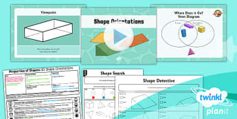 PlanIt Y3 Properties of Shapes Lesson Pack Shapes (4)  - PlanIt, Properties of Shapes, shapes, orientations