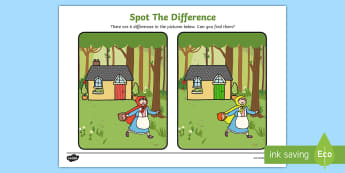 Little Red Riding Hood Spot the Difference Activity - difference