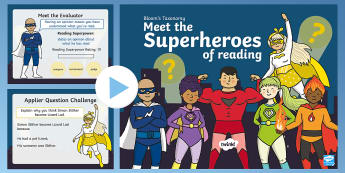 Bloom Superheroes - Lizard Lad PowerPoint - Blooms taxonomy, comprehension, during reading, after reading, guided reading, HOTS, higher order th