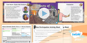 PlanIt PE Year 3 Dance Extreme Earth Lesson 5- Effects of Natural Disasters - Dance Extreme Earth, PE, Physical Education, Movements Emotions, Feelings, Effects Of Natural Disast