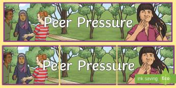 Peer Pressure Display Banner - UKS2, LKS2, negative, positive, number, zero, forwards, backwards, context, calculate