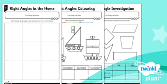 PlanIt Y3 Properties of Shapes Right Angles Home Learning - planit, properties of shape, home learning tasks