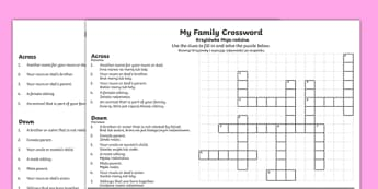 My Family Crossword Polish/English
