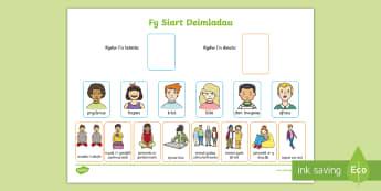 Siart Deimladau - Siart, Teimladau, Emosiynau, Strategaethau, Rheoli, Feelings, Emotions, Chart, Self-regulating, Stra
