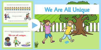 We Are All Unique PowerPoint - we are all unique, powerpoint, information powerpoint, discussion prompt, discussion starters, class discussion, self reg