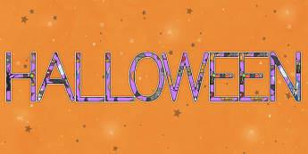 Halloween Letras de mural