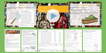 Death and Funerals Lesson Pack -  Life after death; afterlife; Christianity; funeral