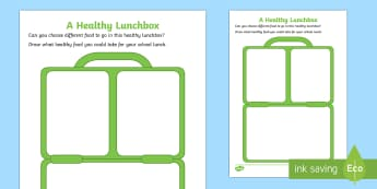 lunch box template - healthy, lunchbox, healthy eating, pshe,