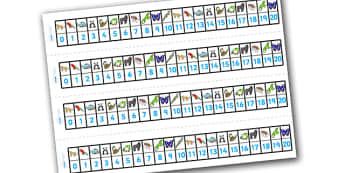 Numbers 1-20 Numbertrack (Jungle & Rainforest) - Maths, Math, number track, Jungle, Rainforest, numbertrack, Counting, Numberline, Number line, Counting on, Counting back, snake, forest, ecosystem, rain, humid, parrot, monkey, gorilla