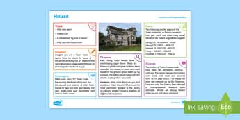 Tudors: House KS2 Exploration Sheet - tudors, house, history, KS2, Imagine (KS2)