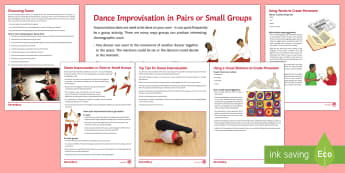 Dance Improvisation and Beyond Activity Pack  - dance, improvisation, choreography, KS3 dance, GCSE Dance, bTEC dance