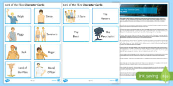 Lord of the Flies Character Cards Pack