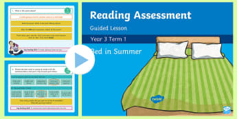 Year 3 Reading Assessment Poetry Term 1 Guided Lesson PowerPoint - Year 3, term 1, Reading Assessment Guided Lesson PowerPoints, KS2, reading, read, assessment, guided