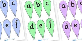 A-Z Letter fans (Lowercase) - A-Z fans, education, home school, free, kids, literacy