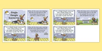 Dingle Dangle Scarecrow Nursery Rhyme Cards - scarecrow, nursery