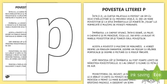 Litera P Poveste - litere, litera p, poveste, clasa pregătitoare, povestea literei p, ,Romanian