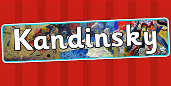 Kandinsky Display Banner - art, artist, header, display, design