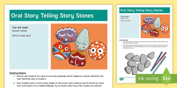 Indigenous Peoples Day Oral Story Telling Stones Activity - Indigenous Peoples Day, Oral Story Telling, Story Telling Stones, First Nations, First Cultures, Nat