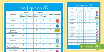 Póster DIN A2: Las figuras 3D - figuras 3D, cuerpos geométricos, mates, matemáticas, geometría, póster, exponer, exposición, de