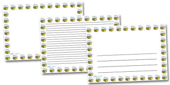 Bee Landscape Page Borders- Landscape Page Borders - Page border, border, writing template, writing aid, writing frame, a4 border, template, templates, landscape