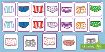 Matching Pants Activity to Support Teaching on Aliens Love Underpants - aliens, woolly, long johns, space ship, underpants, Claire Freedman, matching, activity, match, game, different pants