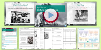 GCSE Poetry: Linking Context and Language Lesson Pack to Support Teaching on 'Kamikaze' by Beatrice Garland - kamikaze, culture, Japan, Japanese, language analysis