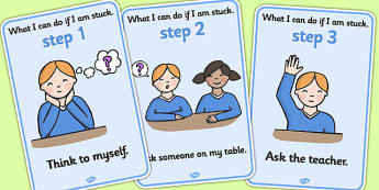 Work Help Display Posters - Behaviour management, rules, table rules, I'm ok, I need help, help signs, calming strategies, think what I am saying, count to 10, deep breath, good hands and feet