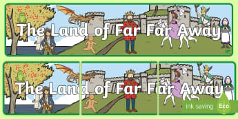 The Land of Far Far Away Display Banner - Far Far Away Display Banner - far far away, display banner, display, banner, traditional tales,trdit