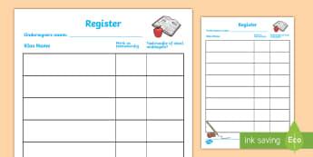 Skool rolspeel register - Skool rolspeel regsiter - register, rolspeel, speel, klaskamer, skool.