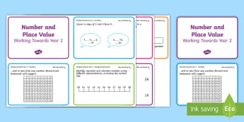Chilli Challenge Year 2 Place Value Maths Cards - activities, numerals, pictorial representation, counting, multiples, problem solving, independent, a