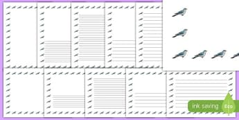 Cuckoo Page Borders - cuckoo, page borders, bird, border, writing frame