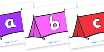 Phoneme Set on Tents - Phoneme set, phonemes, phoneme, Letters and Sounds, DfES, display, Phase 1, Phase 2, Phase 3, Phase 5, Foundation, Literacy