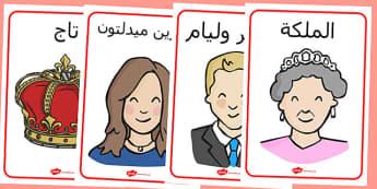 ملصقات عن العائلة المالكة البريطانية - العائلة المالكة