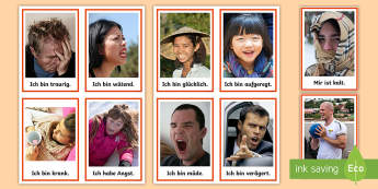 Feelings and Emotions Flashcards - German - Emotions, Feelings, German, MFL, Languages