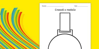 Creează o medalie - Fișă de lucru