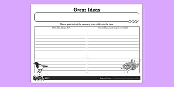 Great Ideas Activity Sheet - Go Green, Eco, recycle, warrior, environment, worksheet