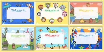 Editable Welcome Signs English/German
