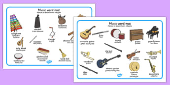 Music Word Mat Polish Translation - polish, music, word mat, word, mat, sounds