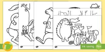 Hojas de colorear: La liebre y la tortuga - colorear, pintar, pinta, colorea, colores, cuento, infantil, moraleja, liebre, tortuga, fábula, fab