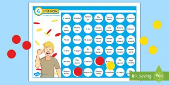 Four in a Row Preterite Tense Self Checking Board Game Spanish - Spanish Grammar, four in a row, 4 en raya, preterite, board game, conjugation, verbs