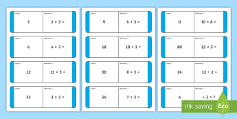 2, 5 and 10 Times Table Multiplication and Division Missing Number Loop Cards - 2, 5 and 10 Times Table Multiplication and Division Missing Number Loop Cards - times table, multipl