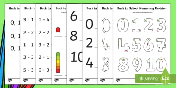 Back to School Numeracy Revision Activity Sheets - CfE Back to School Early Level, Back to School, New class, new school year, transition, getting to k