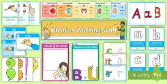 English Working Wall - Infants - Display Pack - junior, senior, infants, literacy, working wall, sounds,Irish