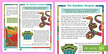 Aboriginal Dreamtime Stories - The Rainbow Serpent Story